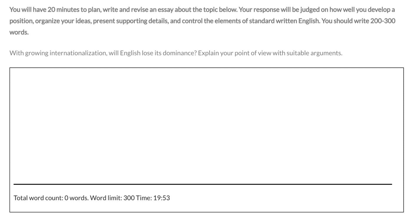 PTE Write essay